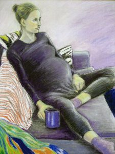 becky, pastel drawing, 2005