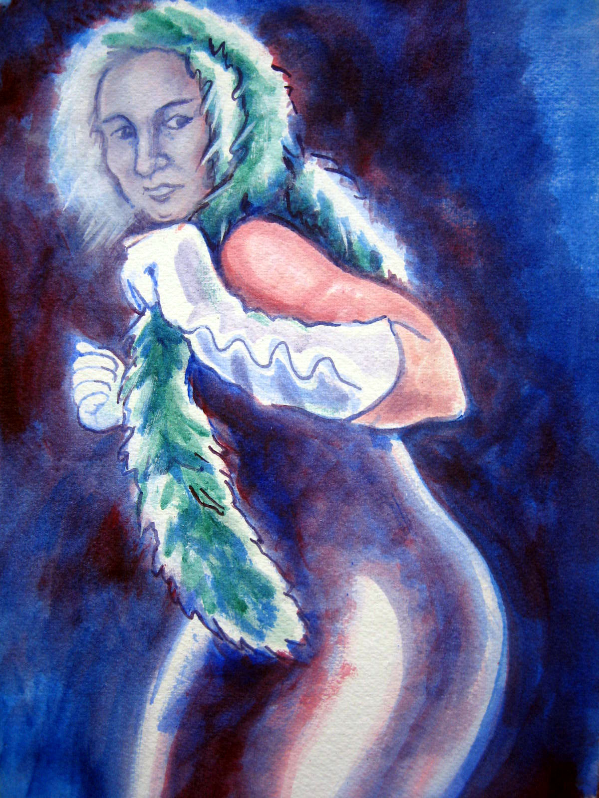 Dancer, painting 2008