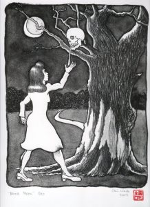 Blood Moon lithograph by Gini Wade