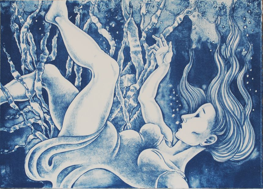 Dreaming Cantre'r Gwaelod lithograph by Gini Wade