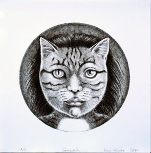 Grimalkin lithograph by Gini Wade
