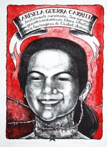 Marisela Guerra Carrillo lithograph by Gini Wade