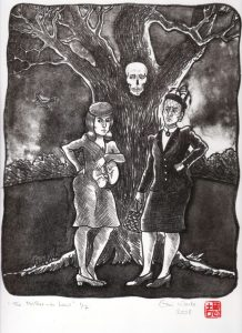The Mother in Law lithograph by Gini Wade