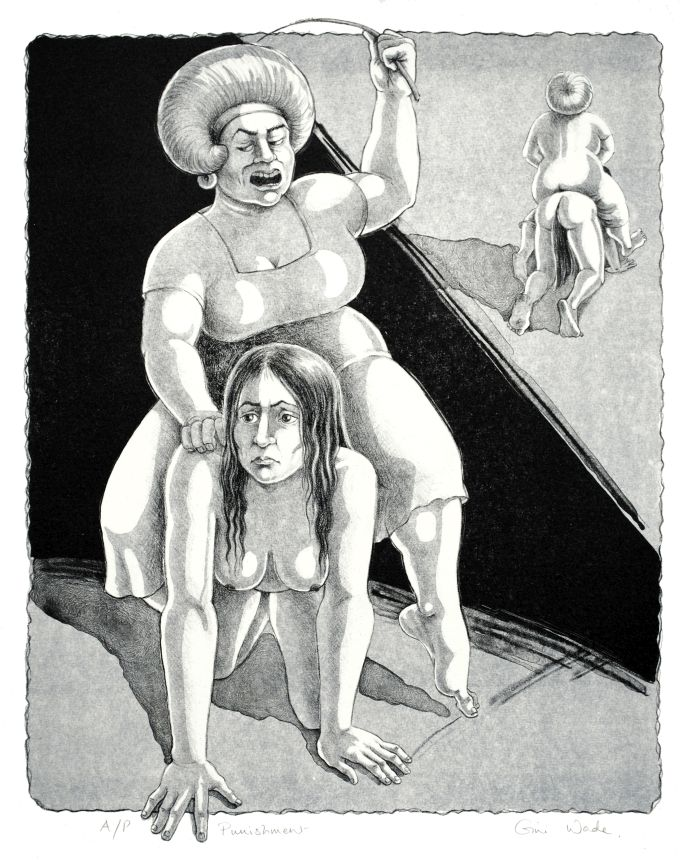 Punishment lithograph by Gini Wade