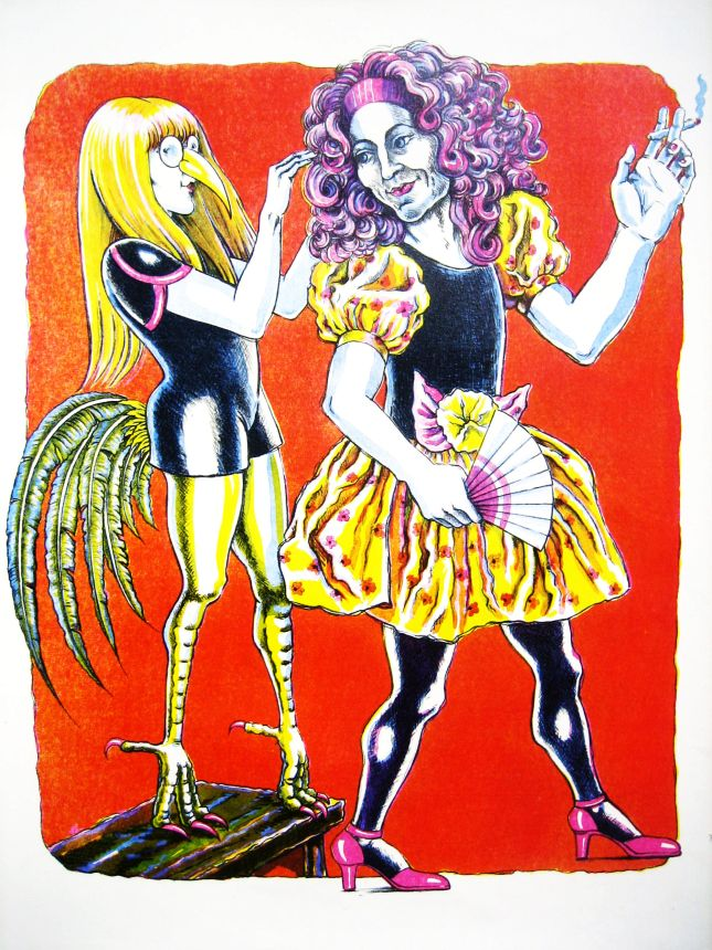 Dressing Up lithograph by Gini Wade
