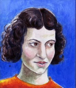 Painting of Dorothy Hodgkin