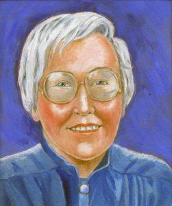 Painting of Elaine Morgan
