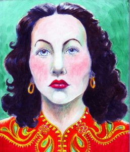 painting of Hedi Lamarr