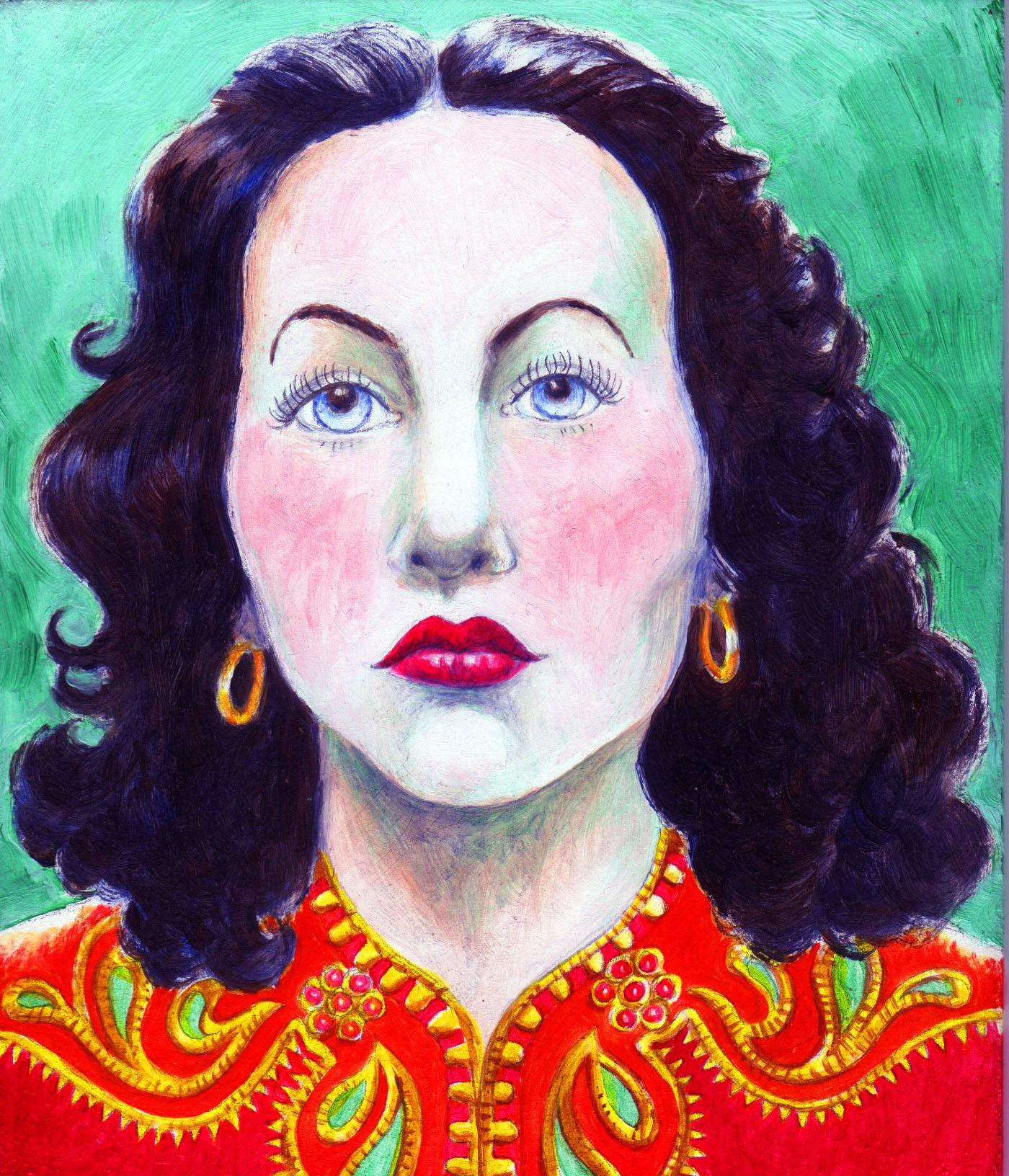 painting of Hedi Lamarr