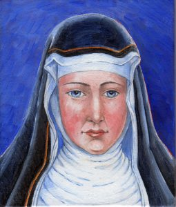 painting of Hildegard of Bingen