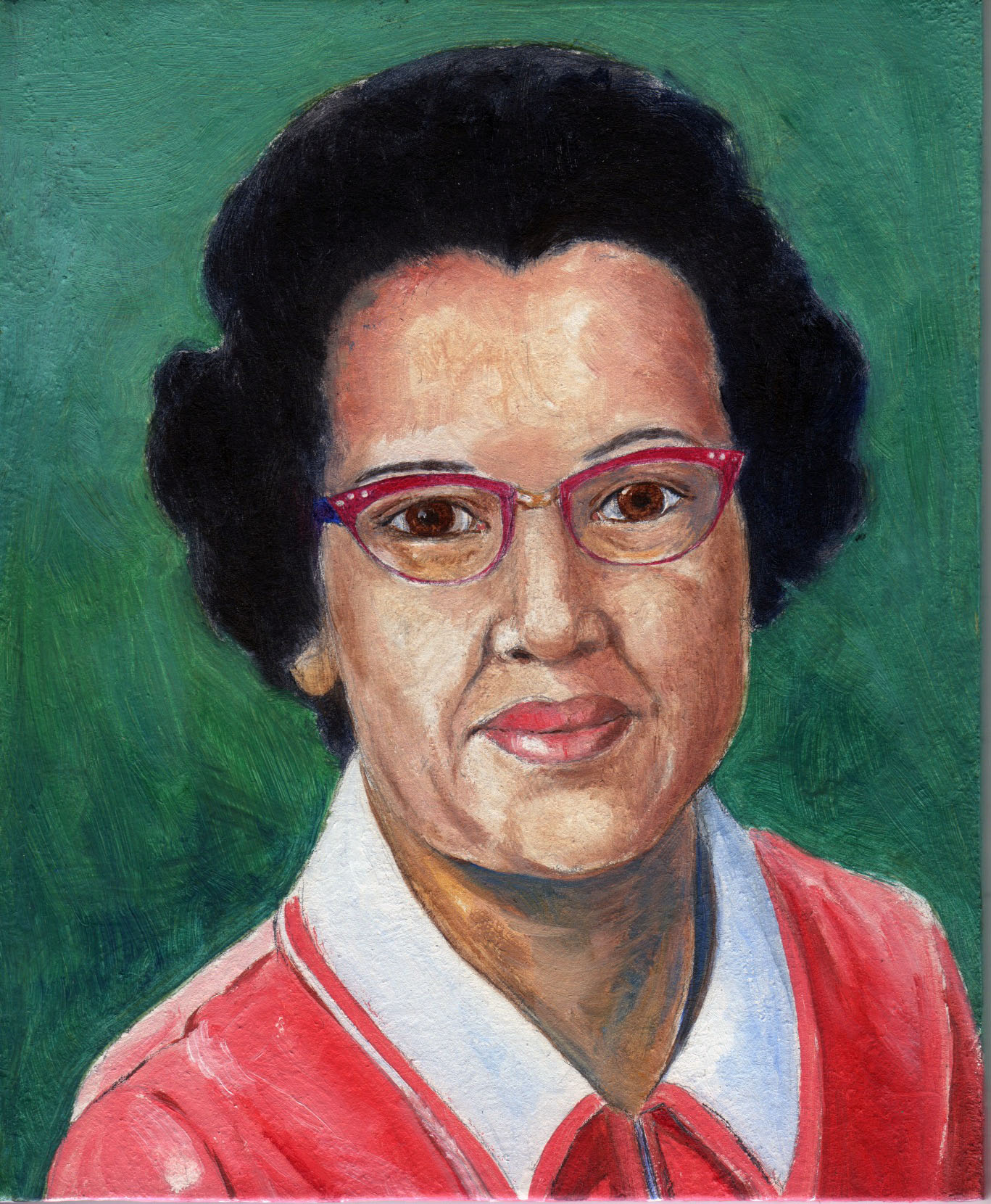 Painting of Katherine Johnson