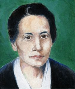 Painting of Lise Meitner