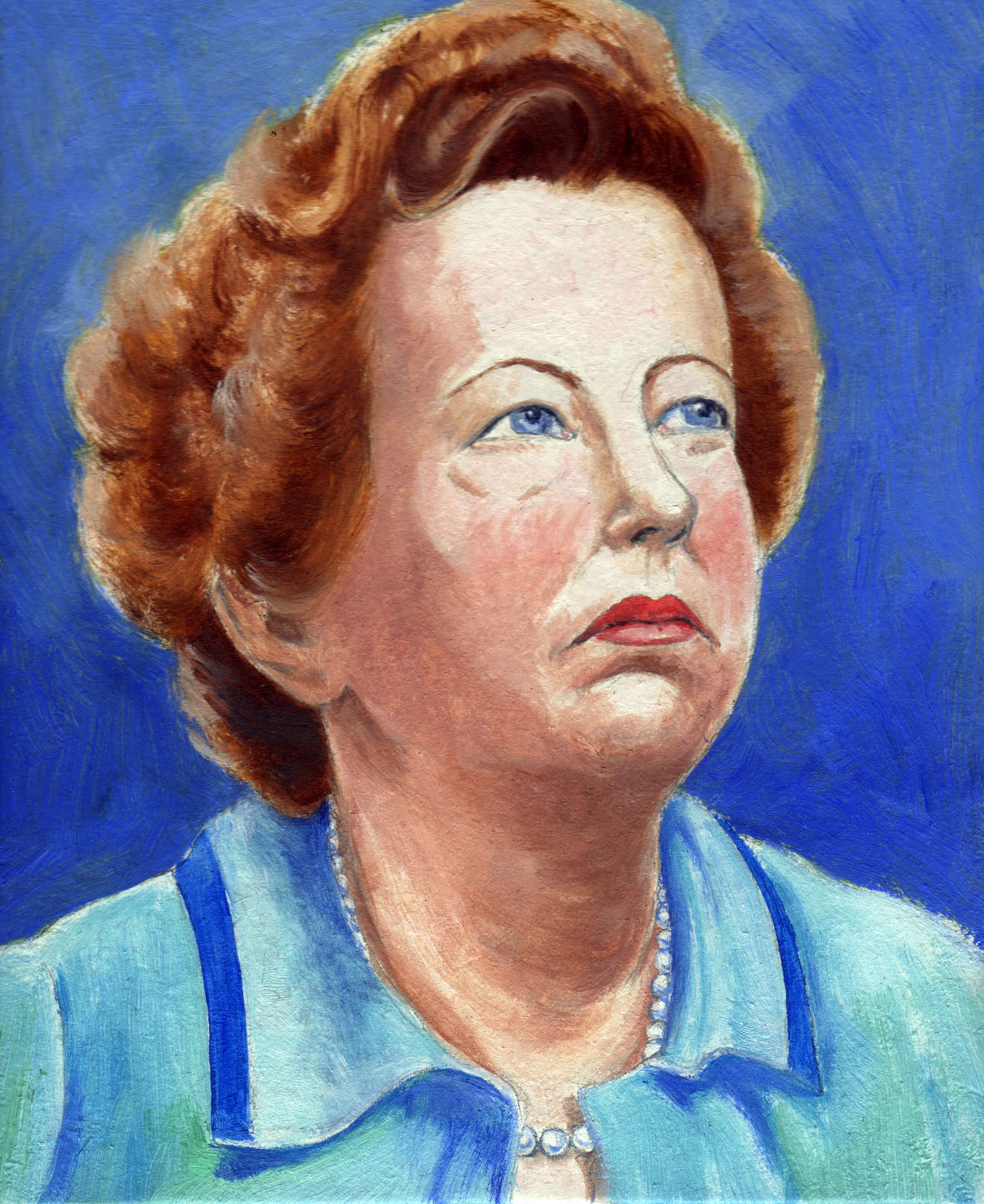 painting of Maria Goeppert-Mayer