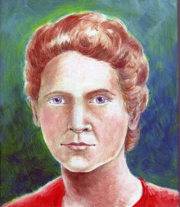 Painting of Marie Curie