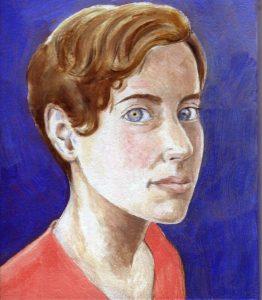 Painting of Maryam Mirzakhani ni