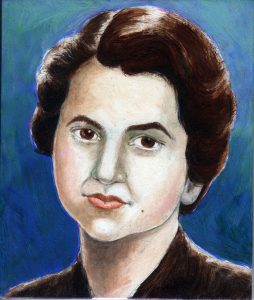 Painting of Rosalind Franklin