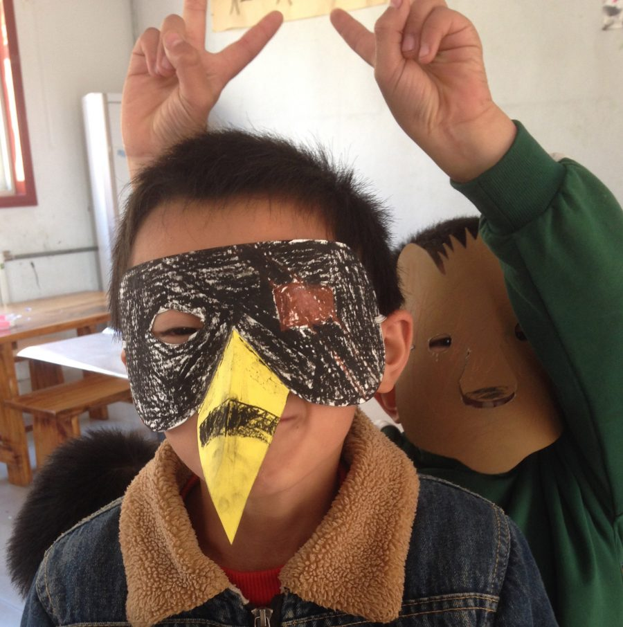 Mask making at Hueimin School